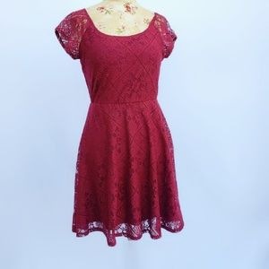 Lovely maroon dress  from Charlotte Russe.